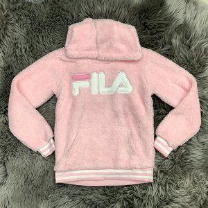 Fila   Girl's Hoodie   Pink   Fuzzy
